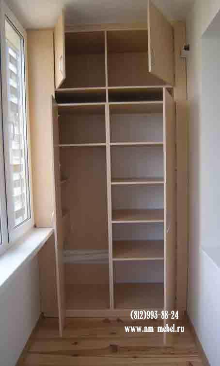 Шкафы на мансарду, балкон под лестницу. шкафы-купе на мансар.