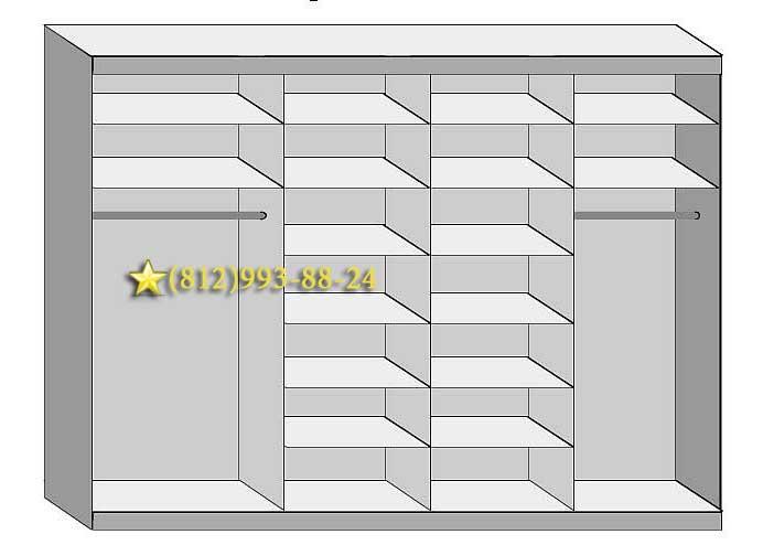Складные двери для шкафа. Преимущества и недостатки 21