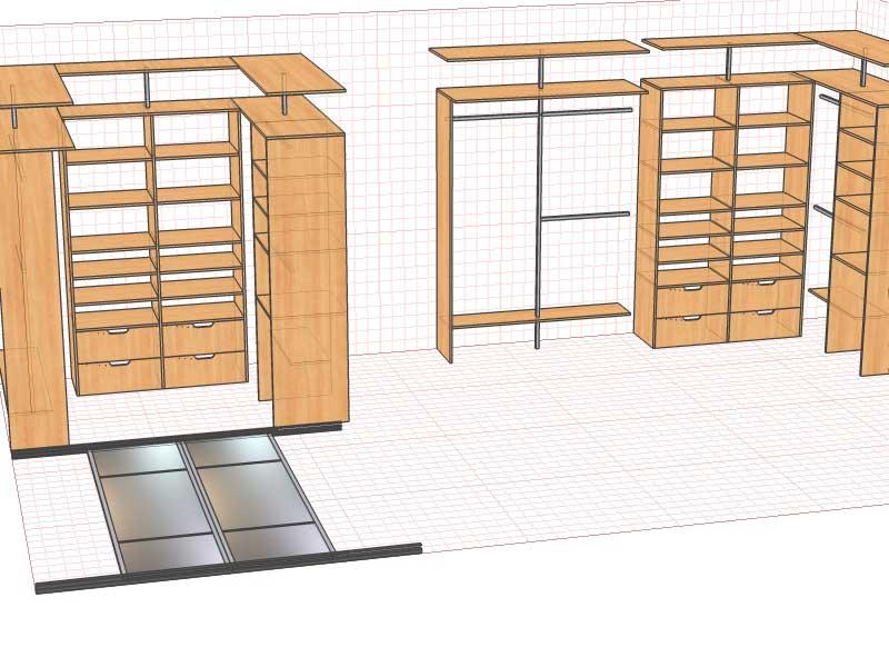 шкафа, проекты шкафов-купе