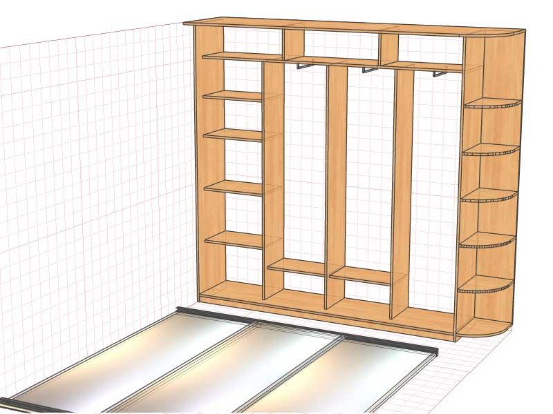 Угловой шкаф  комнату акватон