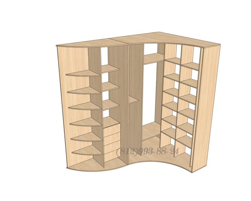 Радиусный угловой шкаф купе своими руками 15