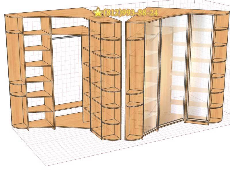 Проект шкаф угловой
