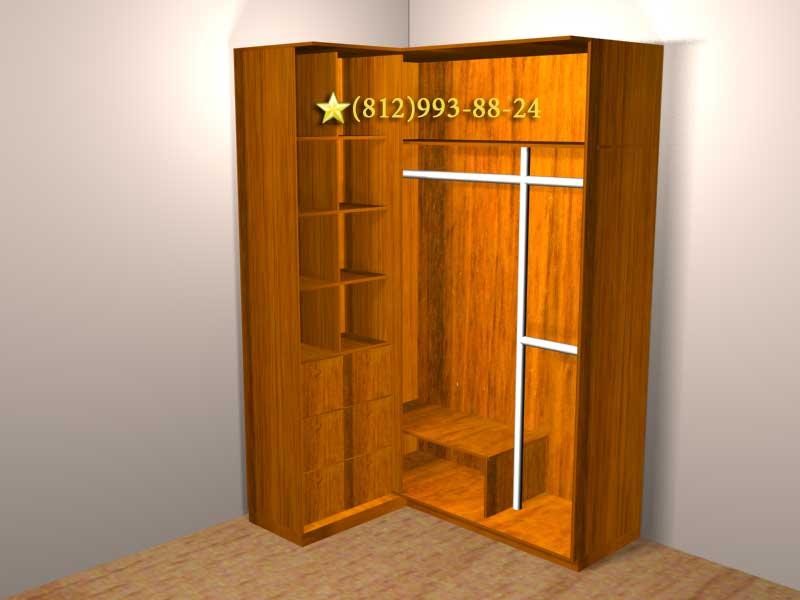 Угловой распашной шкаф своими руками.